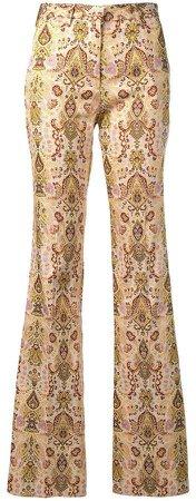 paisley-print trousers