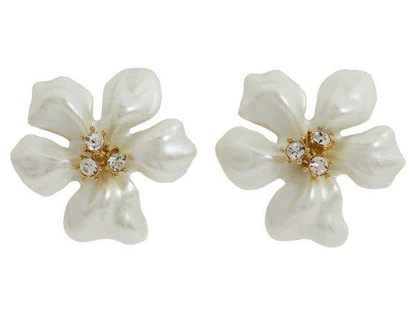 Kenneth Jay Lane - Flowergirl Earrings (White) Necklace