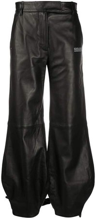 Off White tie-up cuffs tapered trousers