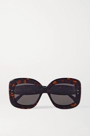 Tortoiseshell Oversized square-frame tortoiseshell acetate sunglasses | Alaïa | NET-A-PORTER