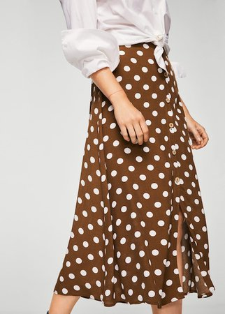 Polka-dot skirt brown