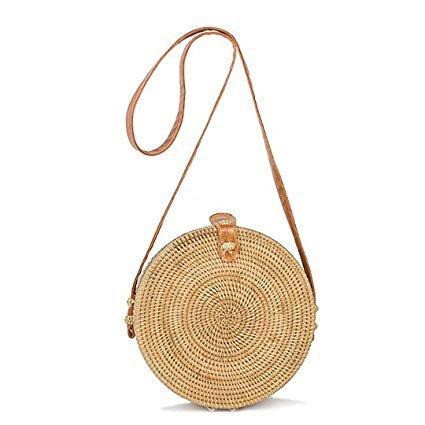 circle straw bag - Google Search