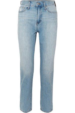 Madewell   The Perfect Summer verkürzte, hoch sitzende Jeans mit geradem Bein   NET-A-PORTER.COM