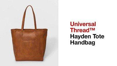 Zip Closure Hayden Tote Handbag - Universal Thread™ Brown : Target