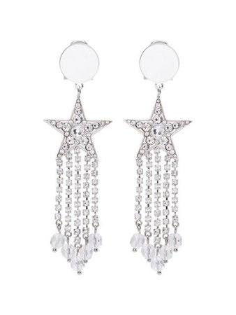 Miu Miu star crystal earrings