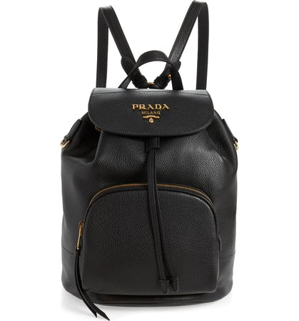 Prada Daino Leather Backpack | Nordstrom