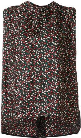 floral-print tank top
