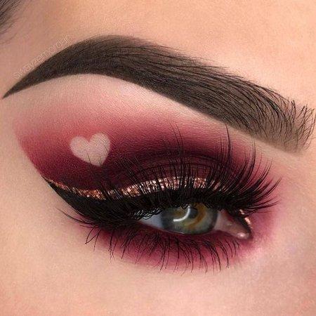 Dark Valentines Day Makeup