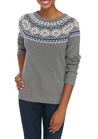 Kim Rogers® Women's Fair Isle Sweater | belk