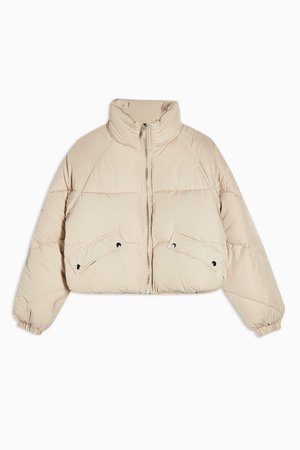 Classic Cream Padded Puffer Jacket | Topshop