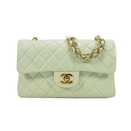 Authentic Second Hand Chanel Pastel Green Classic Double Flap Bag (PSS-051-00146) - THE FIFTH COLLECTION