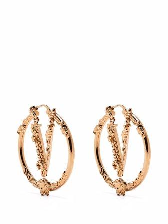 Versace Virtus Hoop Earrings - Farfetch