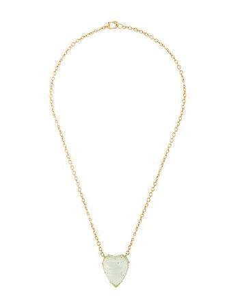 Irene Neuwirth 18kt yellow gold green Tourmaline Heart necklace