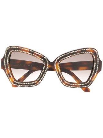 Celine Eyewear Occhiali Da Sole Tartarugati - Farfetch