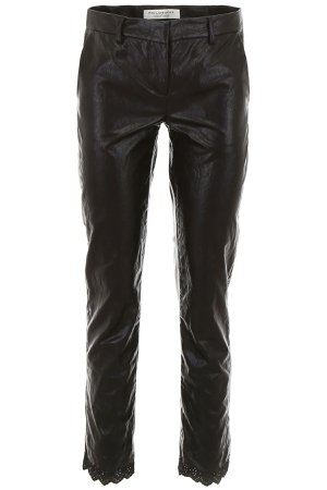 Philosophy di Lorenzo Serafini Faux Leather Pants With Lace