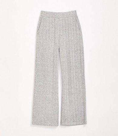 Lou & Grey Ribbed Brushmarl Wide Leg Pants