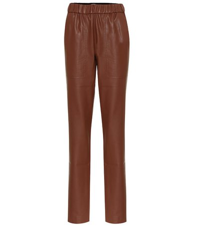 Tibi - Faux-leather slim pants | Mytheresa