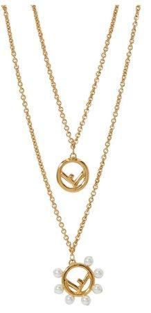 Fendi layered necklace