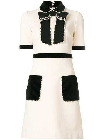 Gucci short-sleeved Embellished Dress - Farfetch