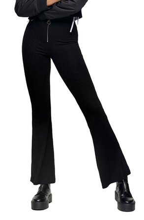 Topshop Corduroy Rib Flare Trousers | Nordstrom