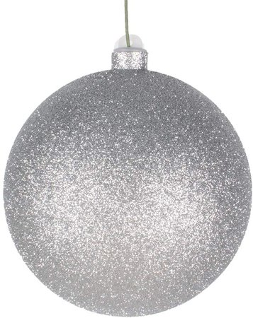 Amazon.com: EST. LEE DISPLAY L D 1902 Large Silver Ball Ornament with Glitter and Hanging String 8in Diameter (Glitter Silver, 8IN): Home & Kitchen