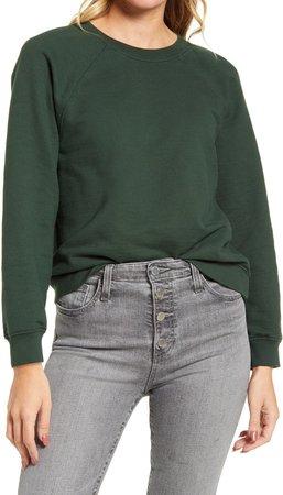 Jadyn Crewneck Raglan Cotton Sweatshirt