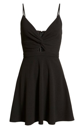 Lulus All About That Love Twist Front Skater Dress | Nordstrom