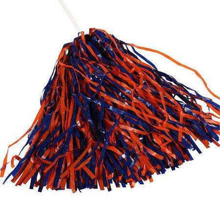 Royal Blue & Orange Spirit Pom Poms - Shindigz