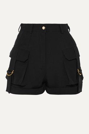 Black Grain de poudre wool shorts | Balmain | NET-A-PORTER