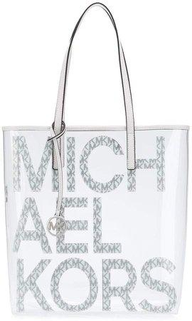 Transparent Printed Logo Tote Bag