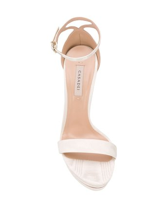 Casadei Platform High Heel Sandals 1L562P1201AWARD3206 White | Farfetch