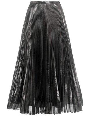 Andrew Gn Metallic Plisse Skirt