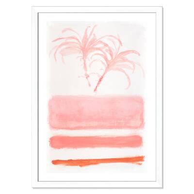 Bay Isle Home 'Tropic Rose' Framed Acrylic Painting Print | Wayfair