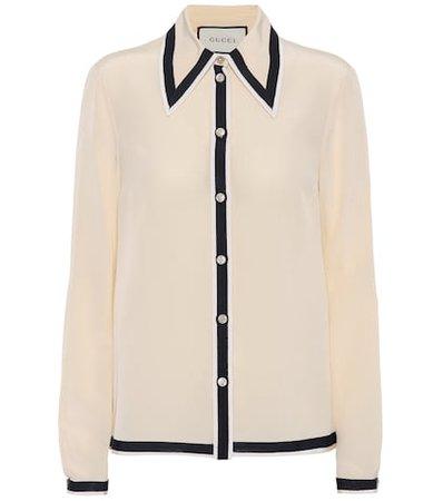 Silk crêpe shirt
