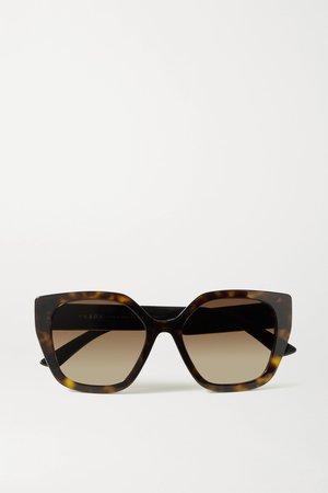 Tortoiseshell Square-frame tortoiseshell acetate sunglasses | Prada Eyewear | NET-A-PORTER