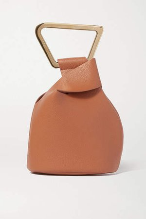 Astraea Mini Textured-leather Tote - Tan