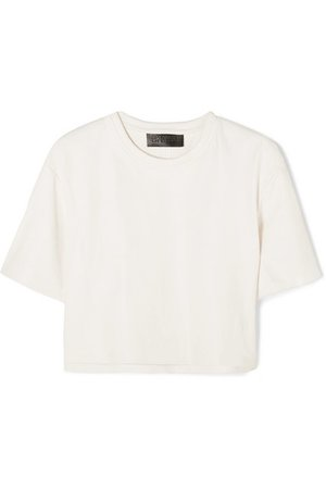SPRWMN | Cropped leather T-shirt | NET-A-PORTER.COM