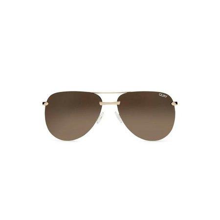 Sunglasses   Shop Women's Quay Australia The Playa Sunglasses at Fashiontage   QW-000156-GOLDBRWN