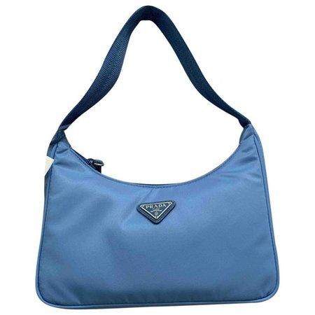 Re-edition cloth mini bag Prada Blue in Cloth - 9499221
