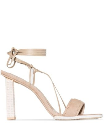Jacquemus square-toe sandals brown 203FO24203406800 - Farfetch