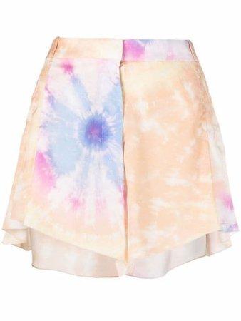 Paco Rabanne tie-dye Pleated Shorts - Farfetch