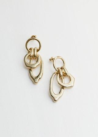 Dangling Organic Charm Earrings