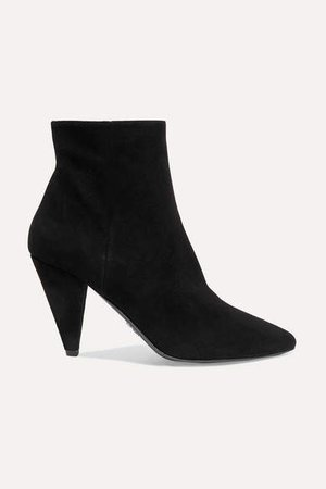 90 Suede Ankle Boots - Black