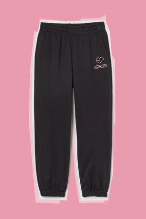 High Waist Joggers - Black/Blackpink - Ladies   H&M US