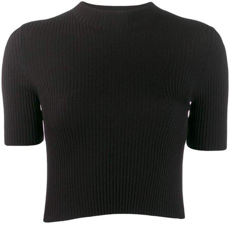 MRZ ribbed knitted top