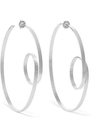 Annie Costello Brown   Circle Scroll silver hoop earrings   NET-A-PORTER.COM
