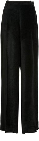 The Row Ewan Satin Chenille Wide-Leg Pants