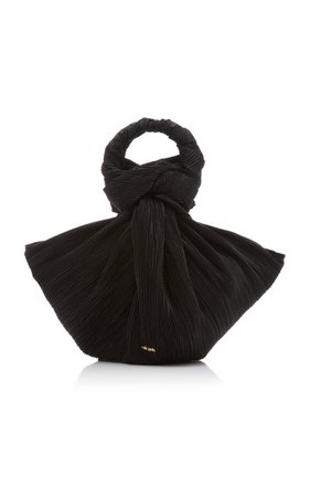 Tulay Knotted Pleated Velvet Top Handle Bag By Cult Gaia   Moda Operandi