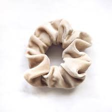 beige scrunchie velvet - Google Search