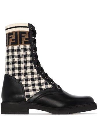 Fendi Rockoko Biker Boots - Farfetch